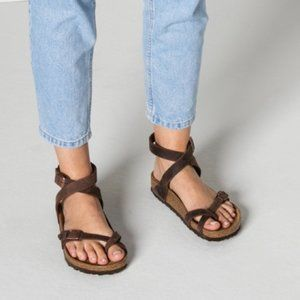 Birkenstock Yara Oiled Leather Sandal Brown 38